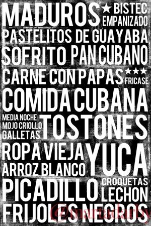Cuban poster: Cuban food subway art