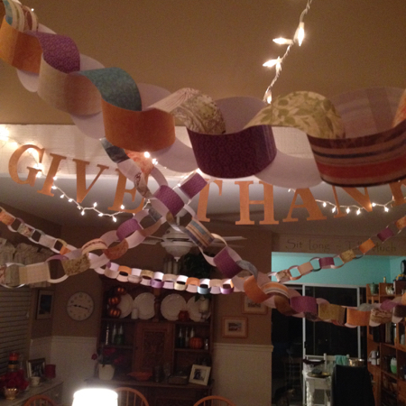 Paper chain garlands