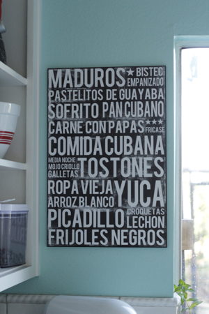Cuban Food Poster