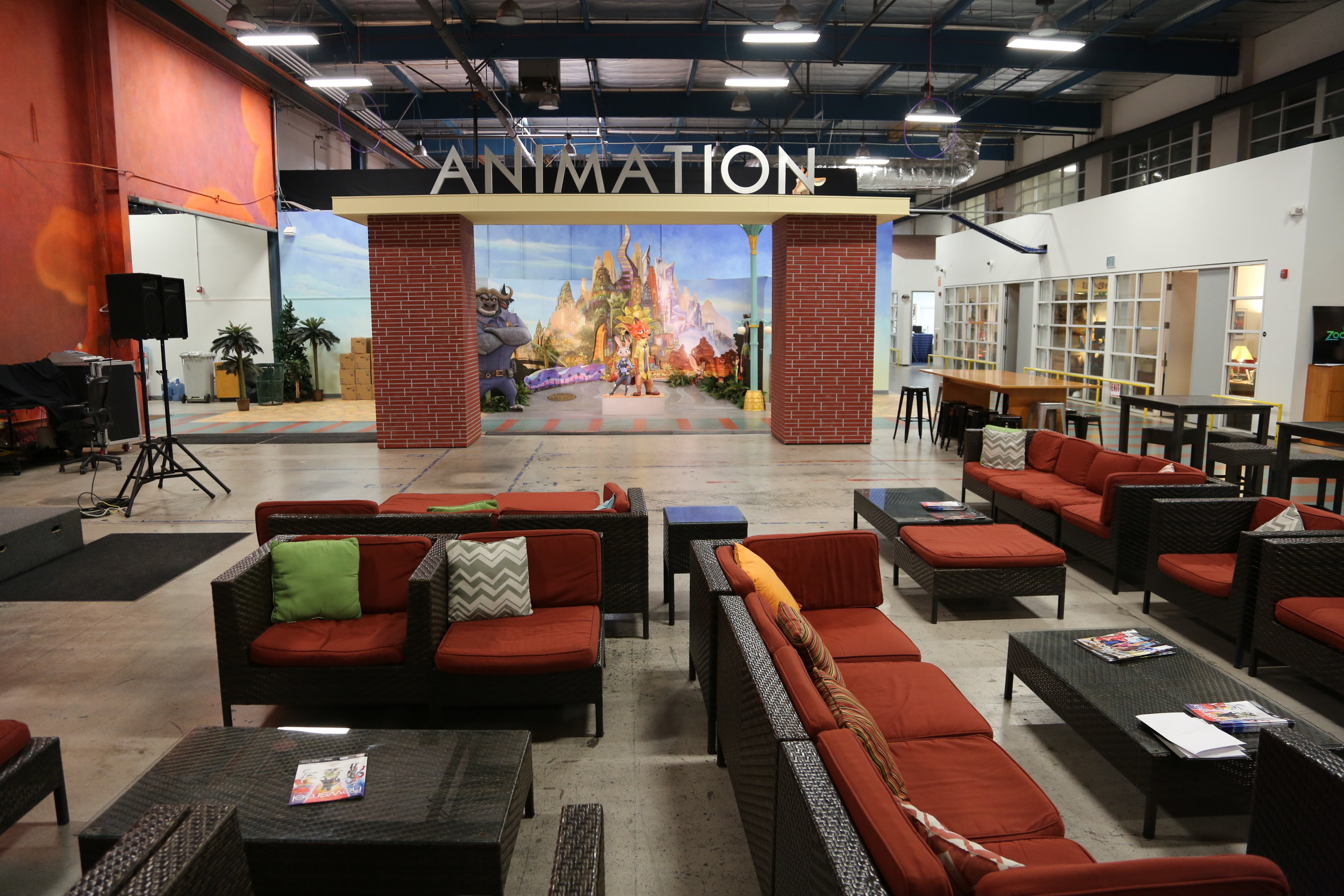Temporary Animation Studios Space - Tujunga Campus. Photo courtesy of Disney