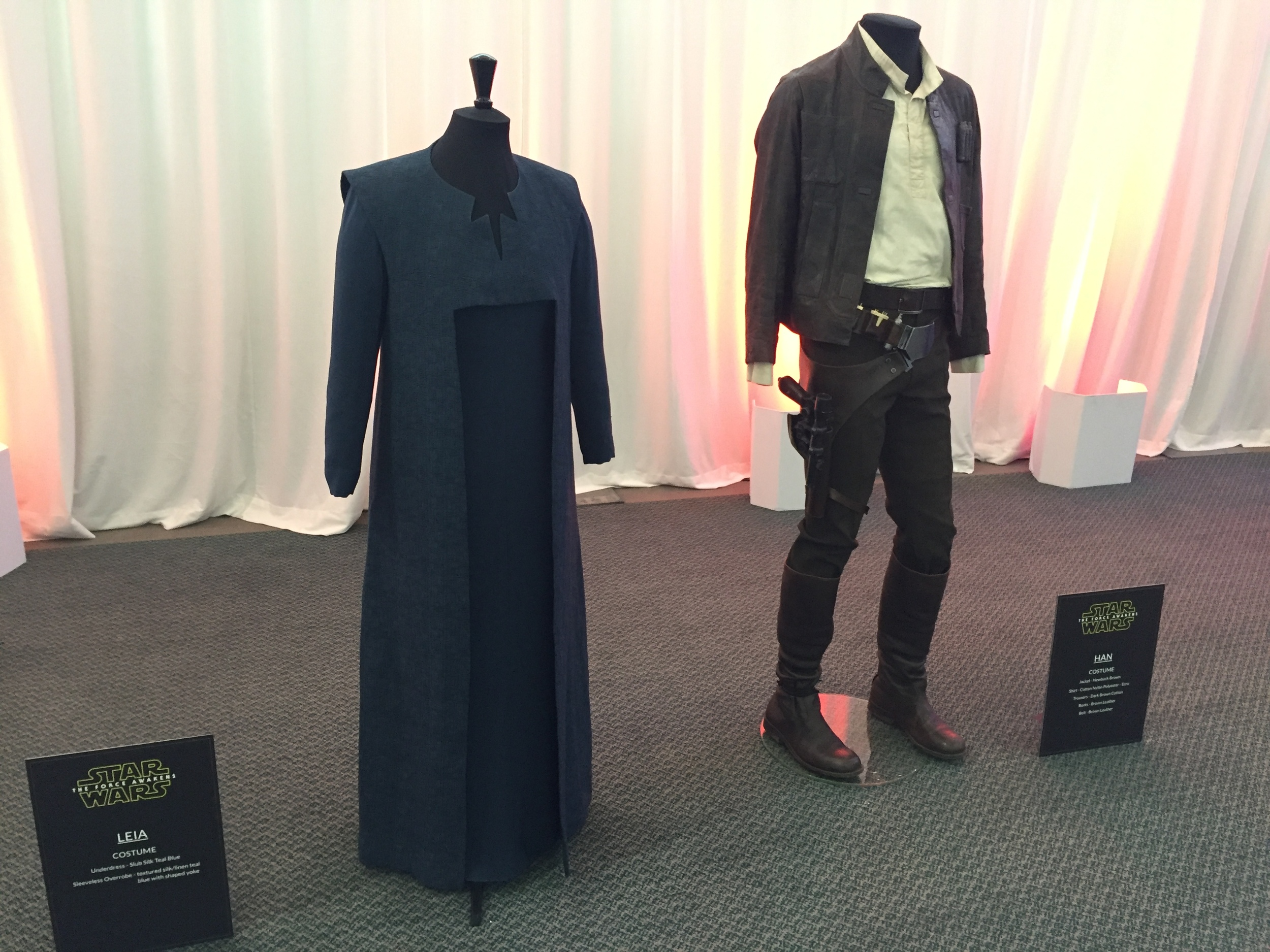 Leia and Han's costumes. Star Wars: The Force Awakens
