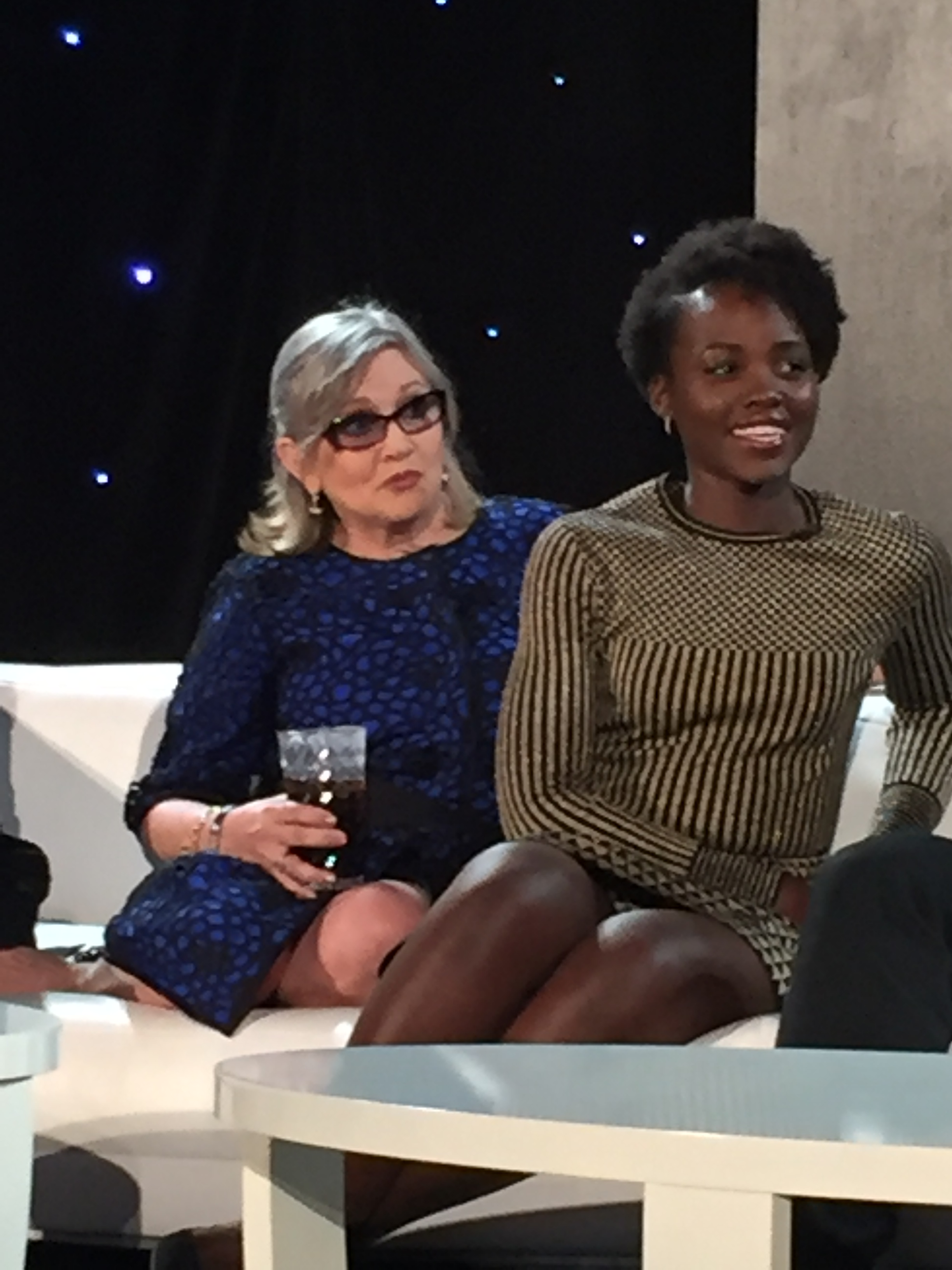 Carrie Fisher and Lupita Nyong'o