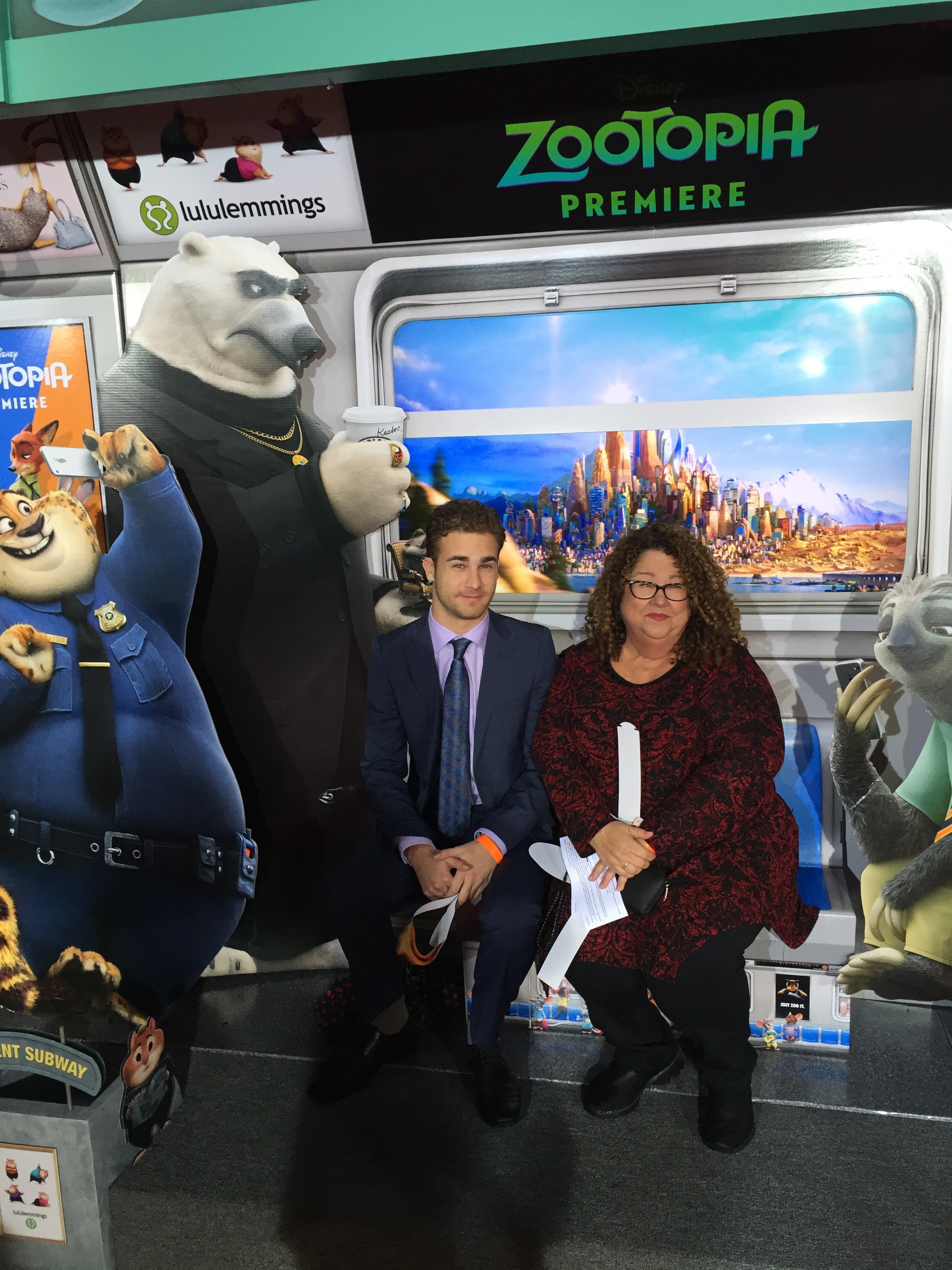 Jon Darby and Marta at the Zootopia Premiere in Hollywood.