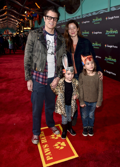 Johnny Knoxville and his fam. Photo courtesy of Disney, because Jon had his hands full.