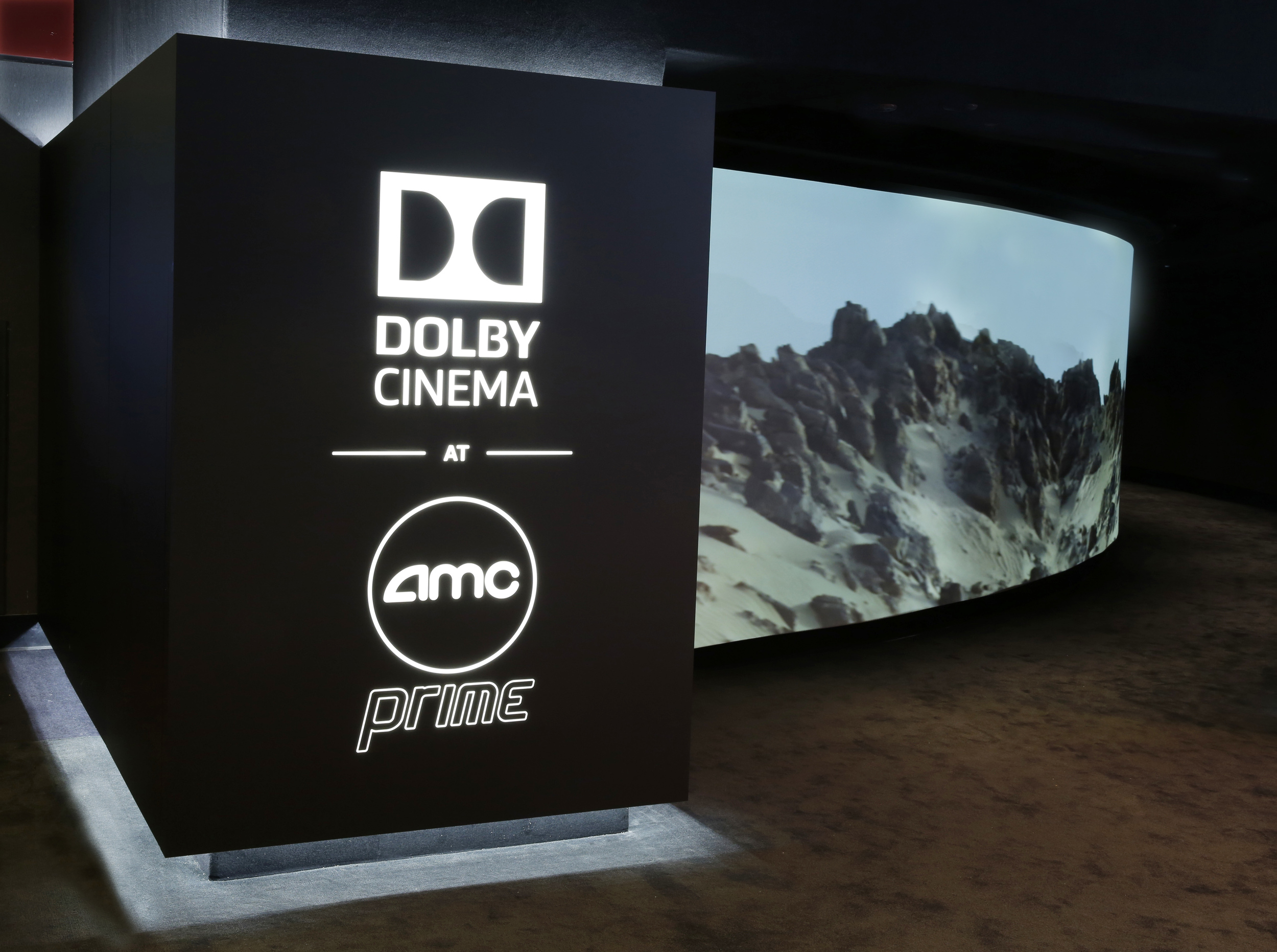 Dolby Cinema at AMC Prime Entrance. (The Martian) Photo courtesy of Dolby Cinema.