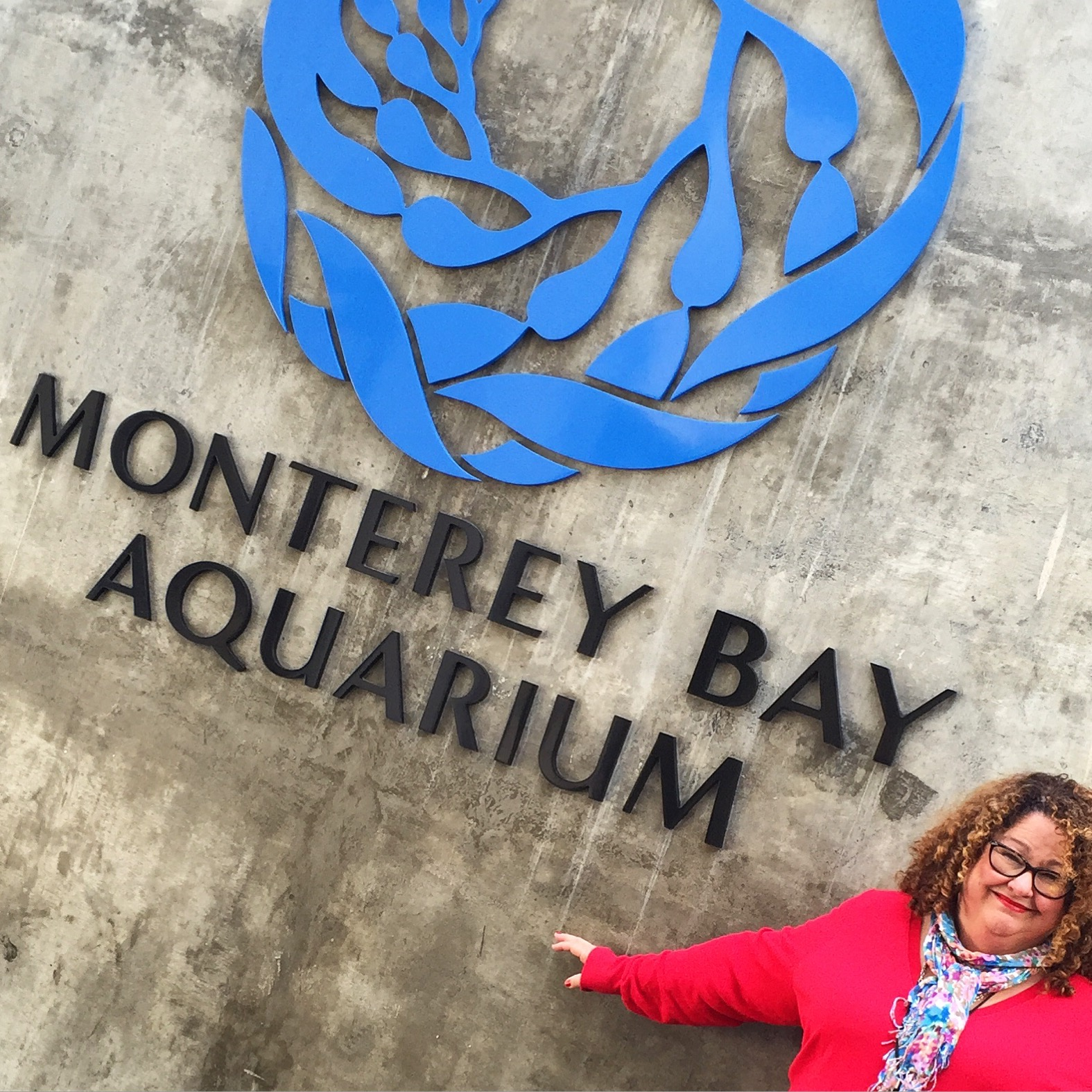 Arriving at the Monterey Bay Aquarium. Photo: Shelby Barrone. OC Mom Blog.