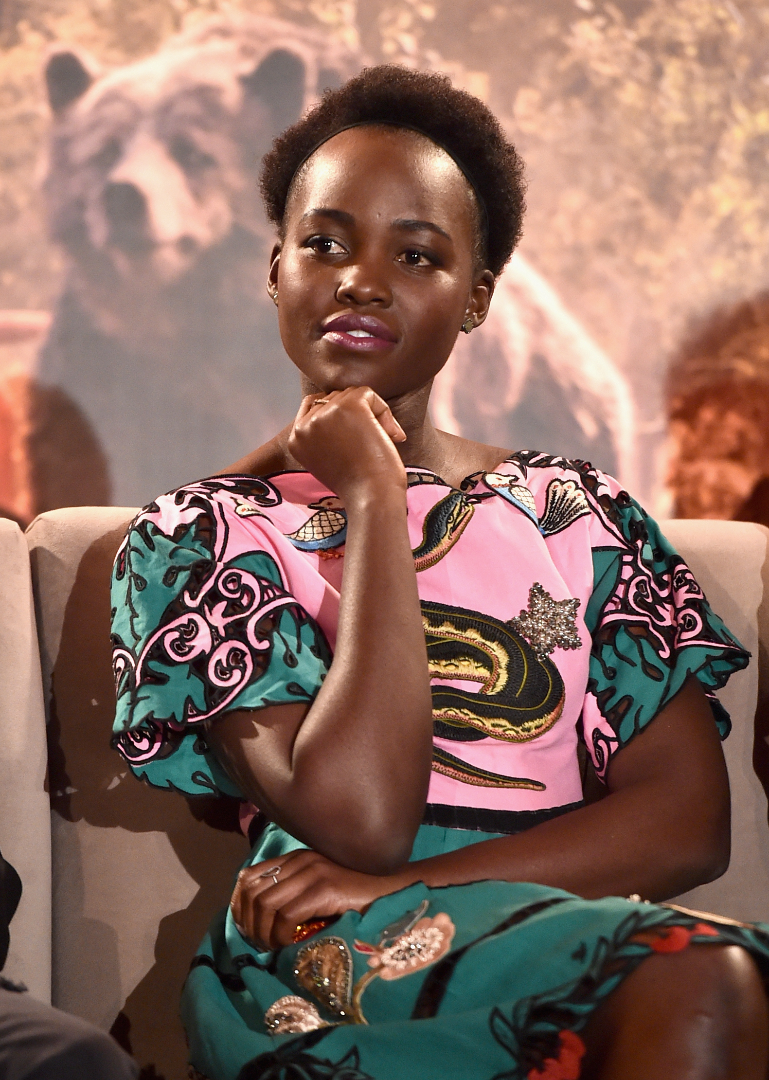 Lupita Nyong'o lends her voice talents to Raksha, the wolf mother.