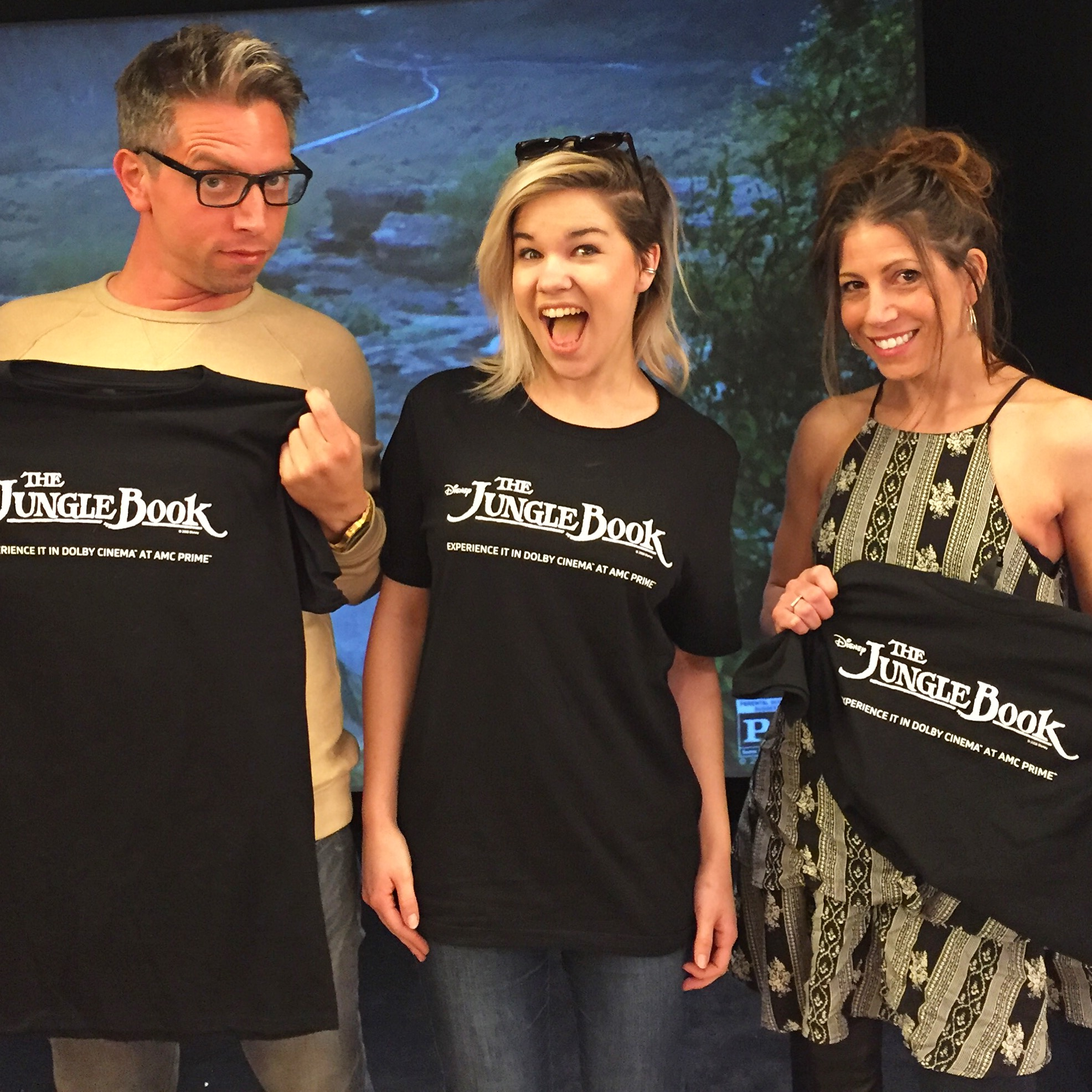 My daughter, and our guests rocking those new jungle book t-shirts.