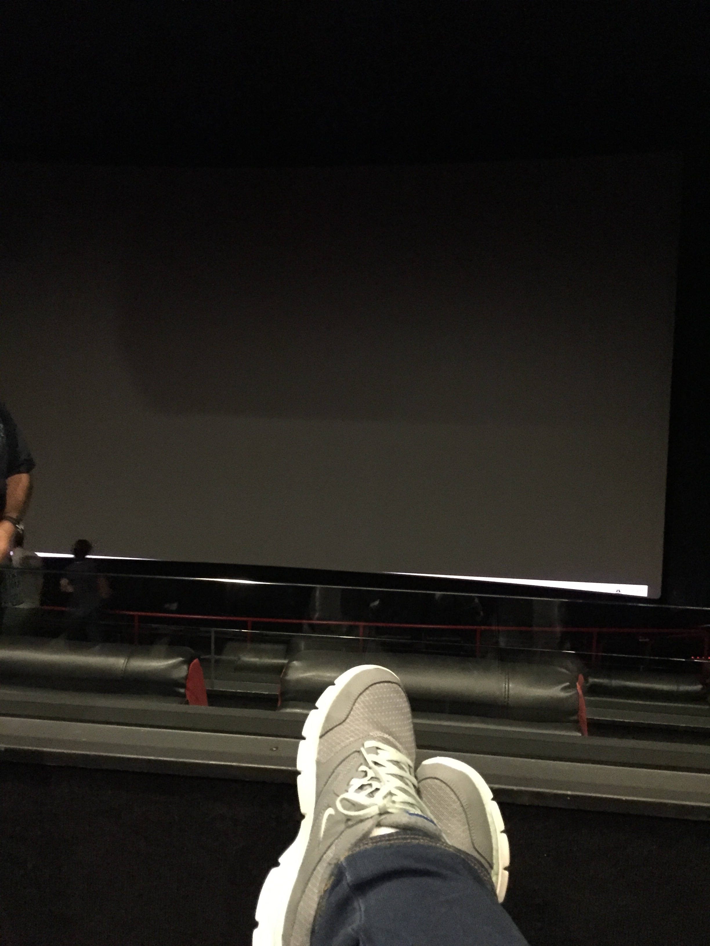 this is me in the comfort of my personal recliner, loving my amazing movie-going experience.