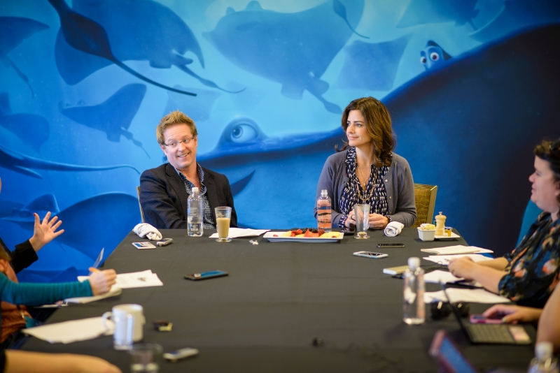 Andrew Stanton (Director) and Lindsey Collins (Producer) at the 'Finding Dory' Long Lead Press Day in Monterey, CA. Photo by Marc Flores. ©Disney•Pixar. All Rights Reserved.