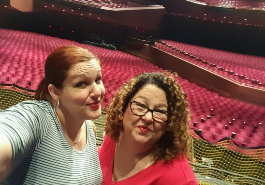 Amy and I going all selfie-fangirly on the SCFTA stage.