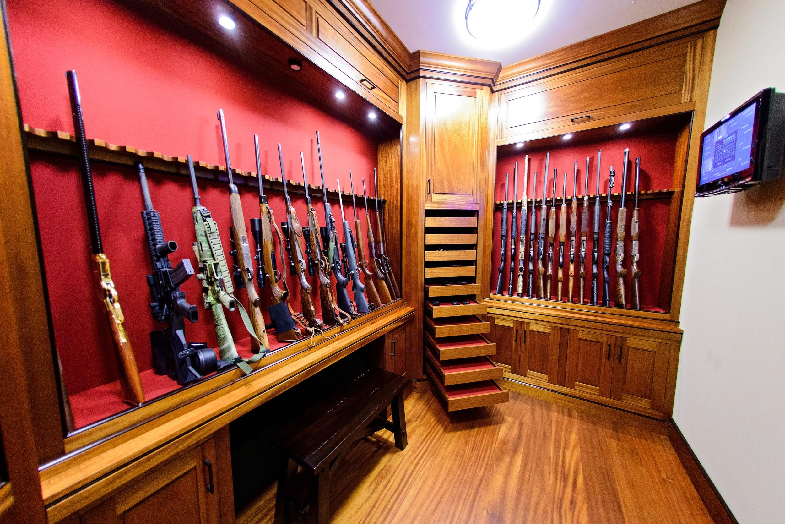 Gun Rooms  Cabinetry  Julian  Sons  Fine Woodworking