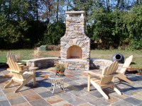 Custom Designed Outdoor Rooms- Wood Fireplace, Kitchen ...