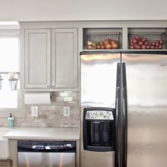 Kitchen Cabinet Cost Storage Canisters How To Maximize The Awkward Space Above Fridge ...