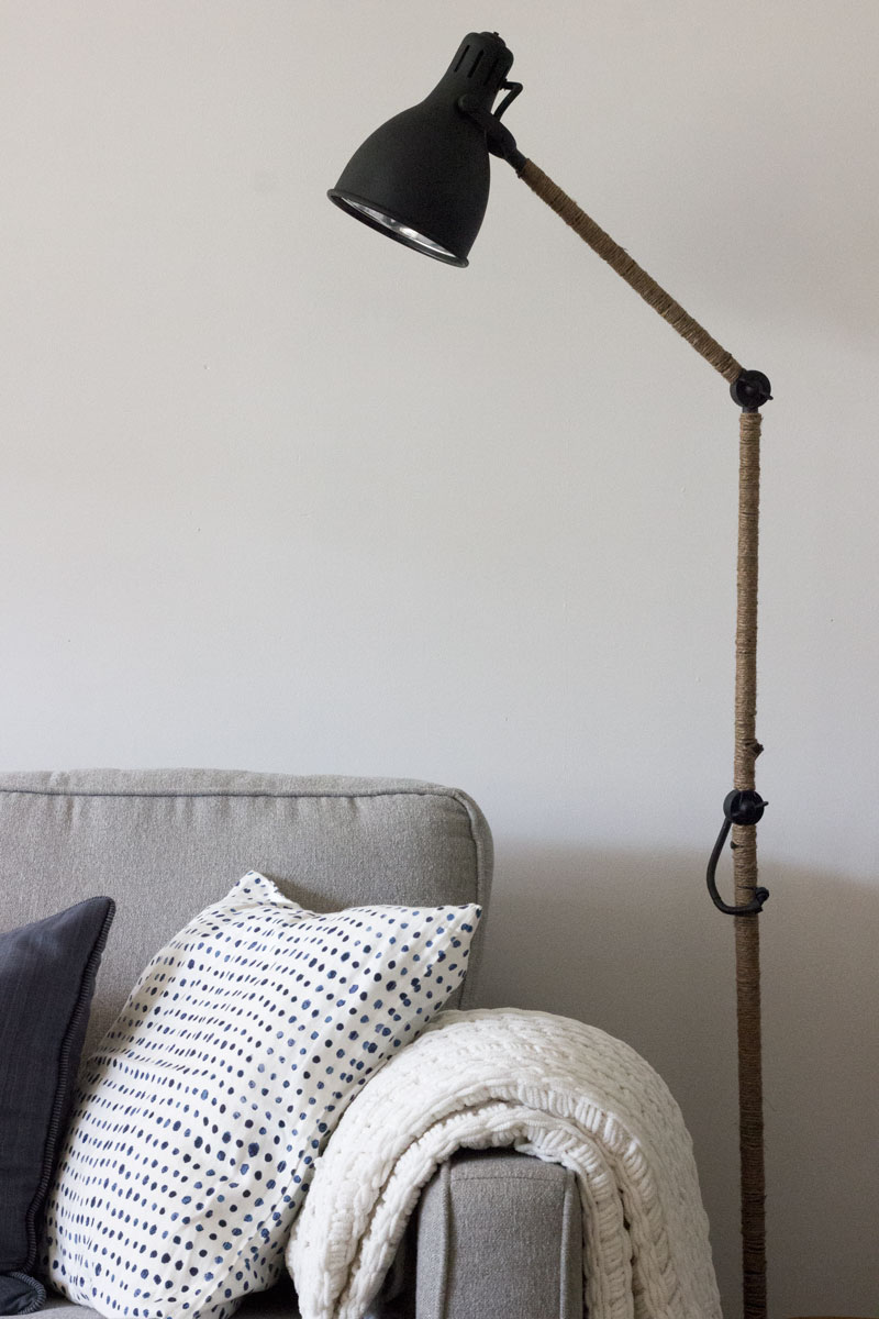 West Elm Inspired Industrial Floor Lamp an IKEA hack