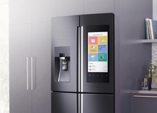 kitchen speakers bronze hardware smart notes initial sks16 announced samsung s the gist had most high profile of product debuts at ces this year with family hub refrigerator an internet connected