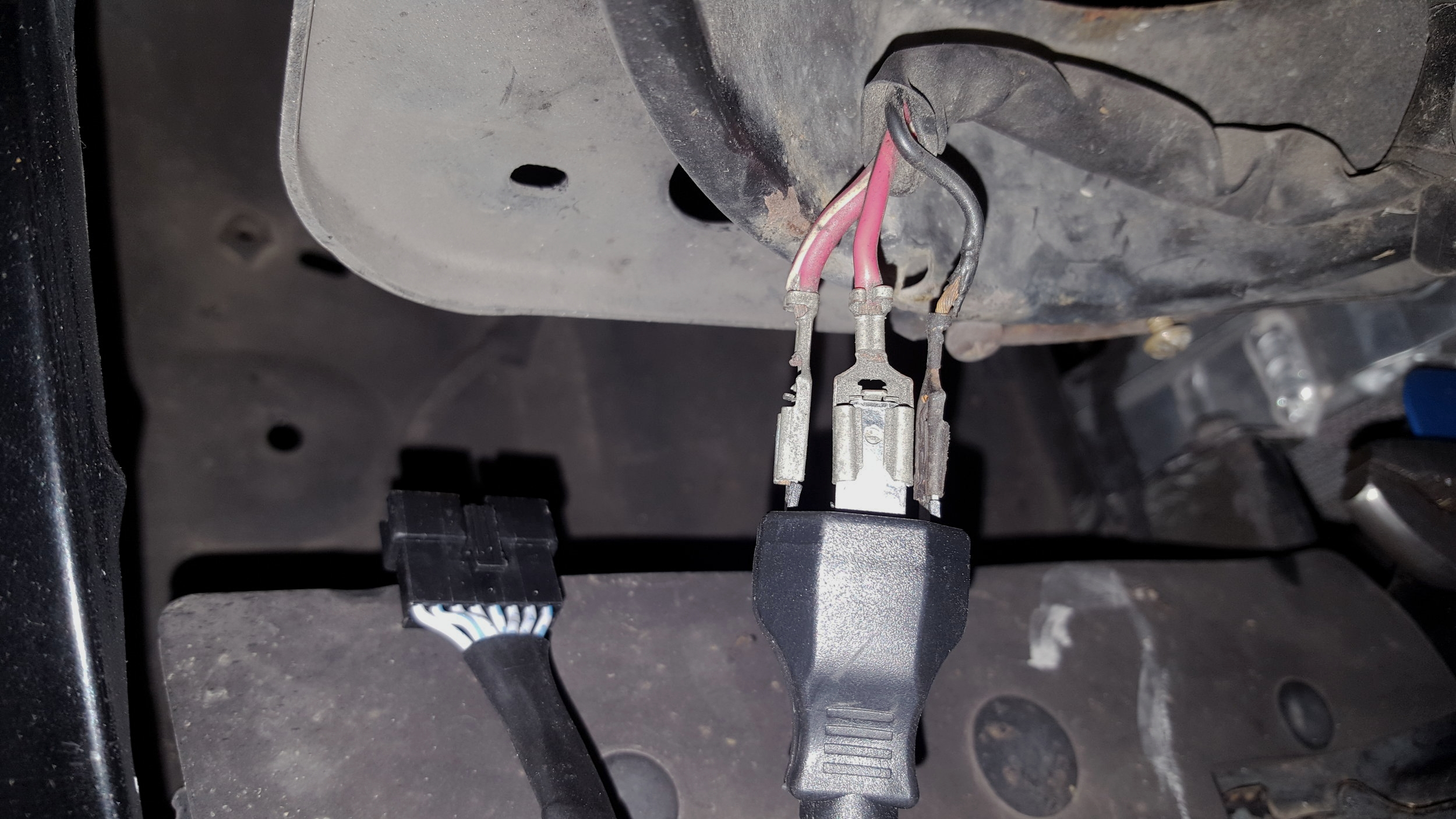headlight motor wiring miata winnebago itasca diagrams na led bulbs in h4 housings review r theory motorsports i ended up tightly wrapping the three connections electrical tape afterwards