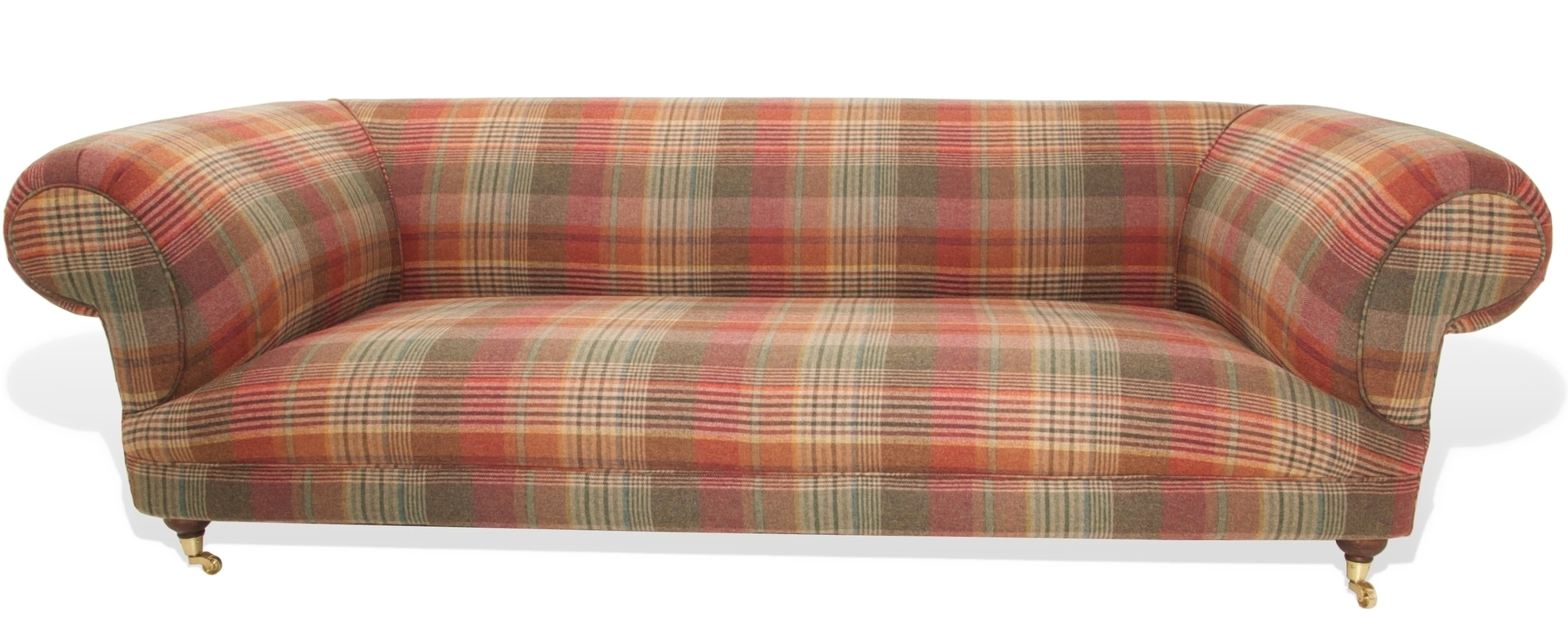 tartan chesterfield sofa leather and recliner riot dougal