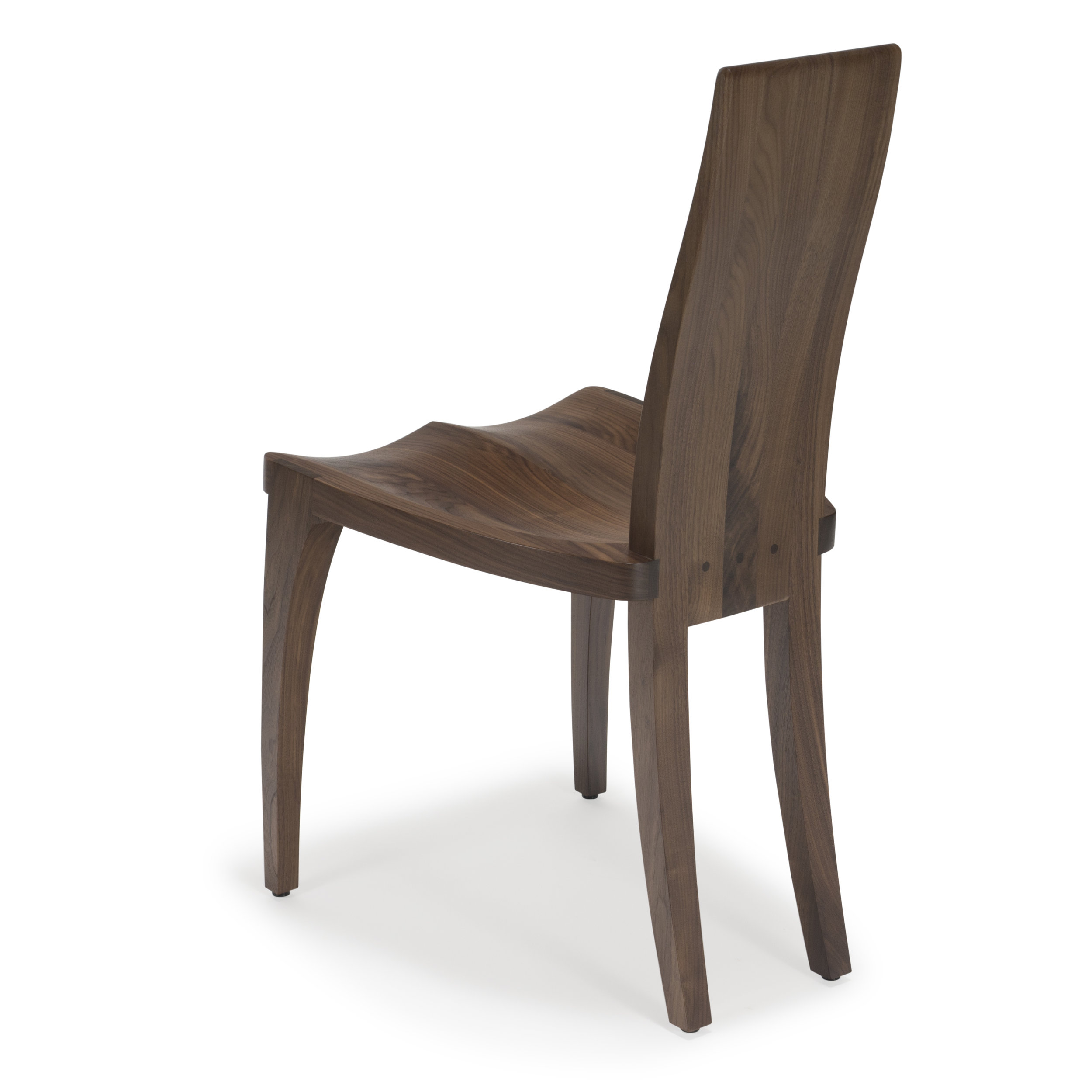 Walnut Dining Chair Dining Chair Handmade Scandinavian Dining Chair High Back In Solid Walnut Wood