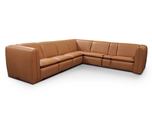motorized sectional sofa black leather and red fabric sofas & sectionals — fortress seating