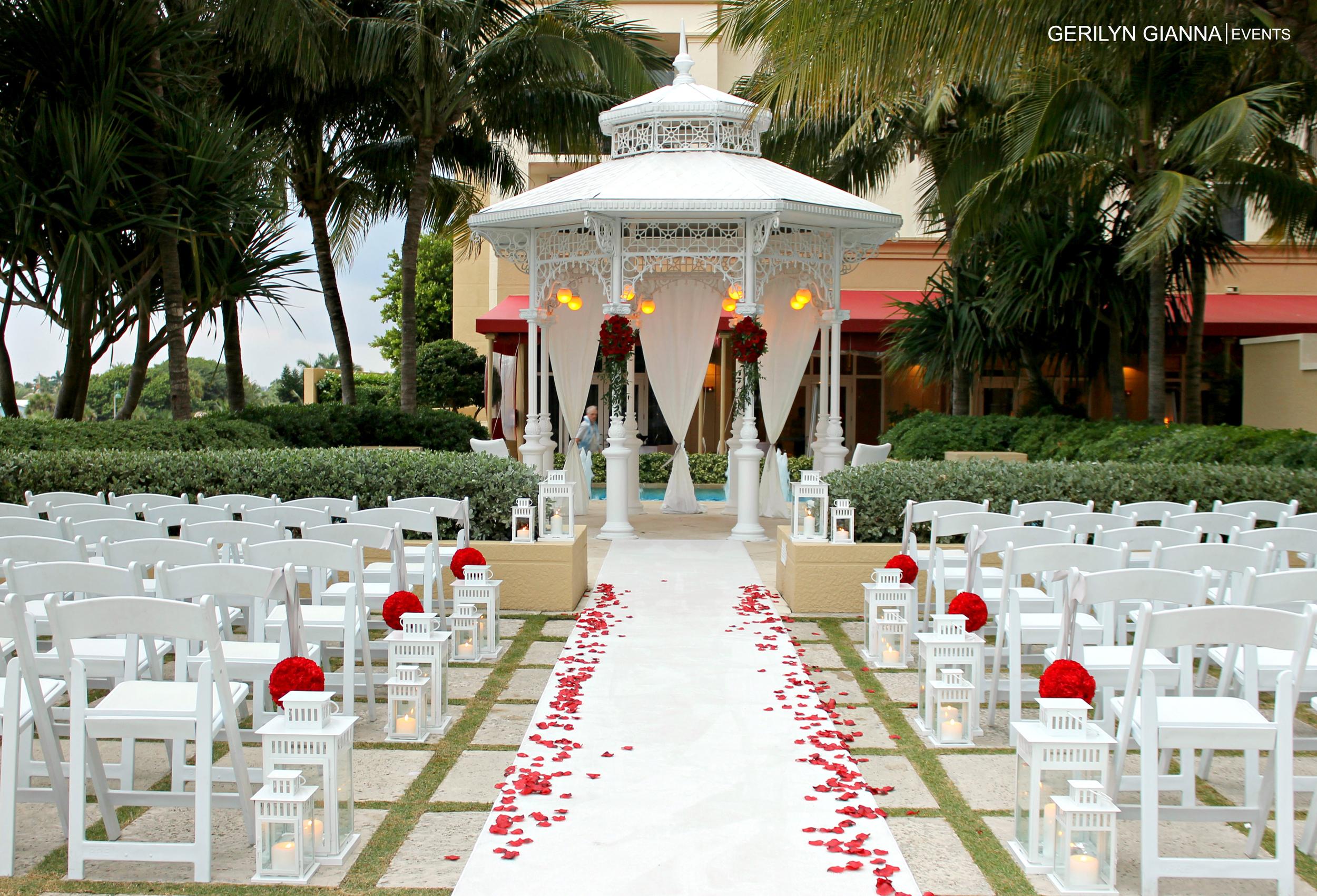 Gerilyn Gianna Event And Floral Design Palm Beach Wedding Ceremony Decor And Design Gerilyn Gianna