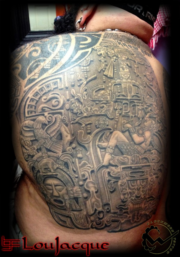 Aztec Back Piece Tattoos