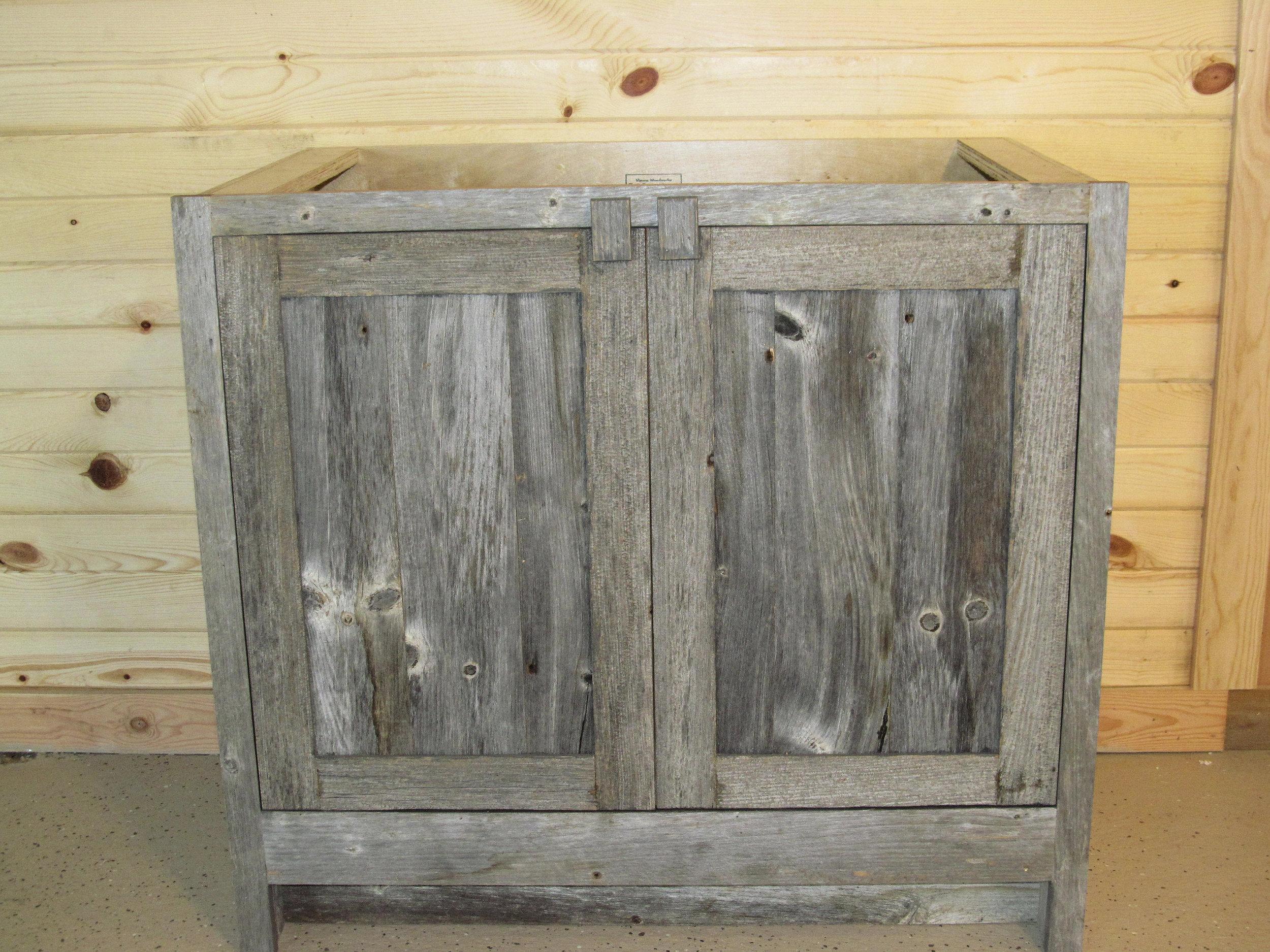 Weathered Gray Vanities  Barn Wood Furniture  Rustic