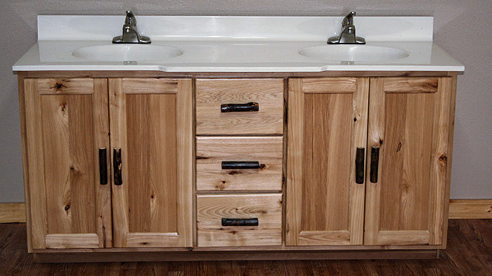 Rustic Hickory Vanity  Barn Wood Furniture  Rustic Barnwood and Log Furniture By Vienna Woodworks