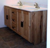 Rustic Hickory Vanity  Barn Wood Furniture - Rustic ...