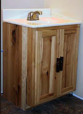 Rustic Hickory Vanity  Barn Wood Furniture  Rustic