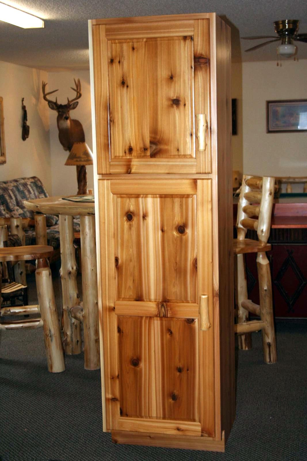 Rustic Cedar Linen Cabinet  Barn Wood Furniture  Rustic Barnwood and Log Furniture By Vienna