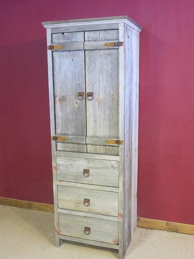 Weathered Gray Barnwood Linen Cabinet  Barn Wood