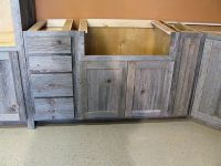 Weathered Gray Barn Wood Kitchen  Barn Wood Furniture