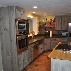 Distressed Black Kitchen Cabinets Package Deals Weathered Gray Barn Wood — Furniture ...