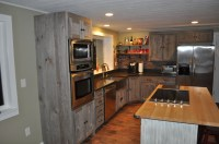 Weathered Gray Barn Wood Kitchen  Barn Wood Furniture ...