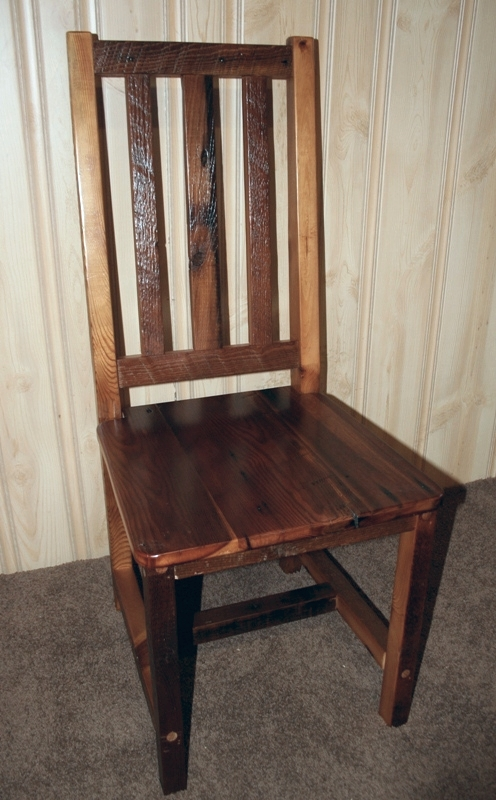 high back dining chair sling patio barn wood furniture rustic barnwood and log by vienna woodworks