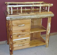 Rustic Baby Changing Tables  Barn Wood Furniture - Rustic ...
