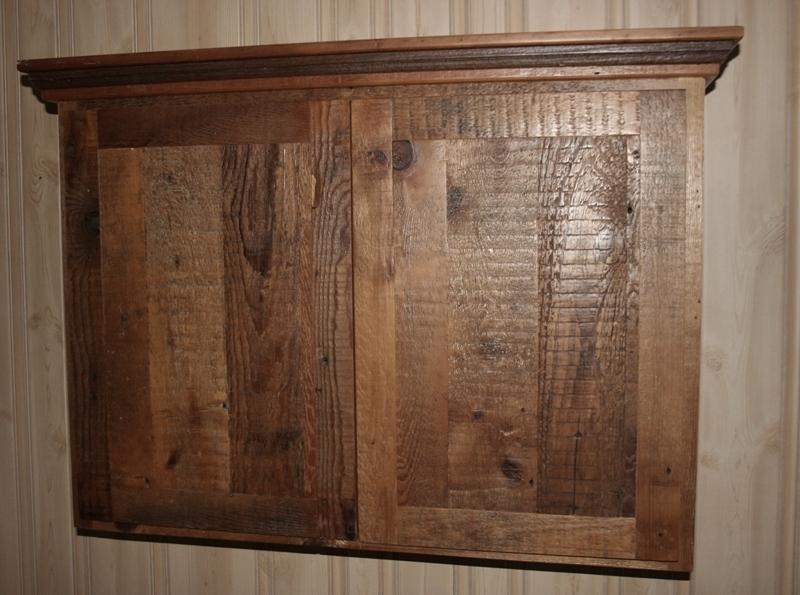 reface old kitchen cabinets hardware reclaimed barnwood — barn wood furniture ...