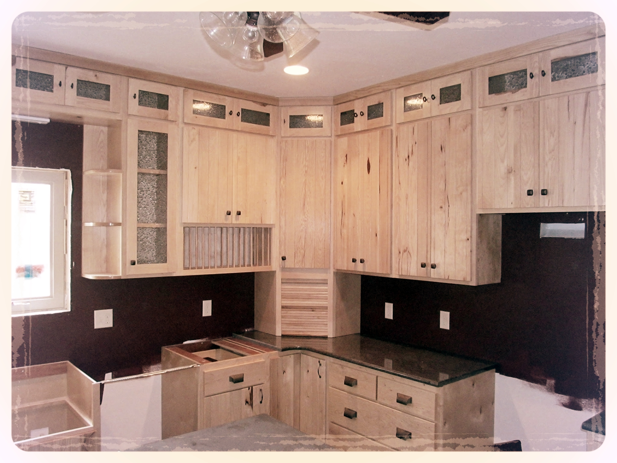 White Hickory Kitchen Cabinets  Barn Wood Furniture