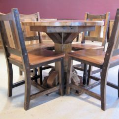 Rustic Wood Kitchen Table And Chairs Ergonomic Chair Green Barn Dining Tables Furniture Barnwood Jpg