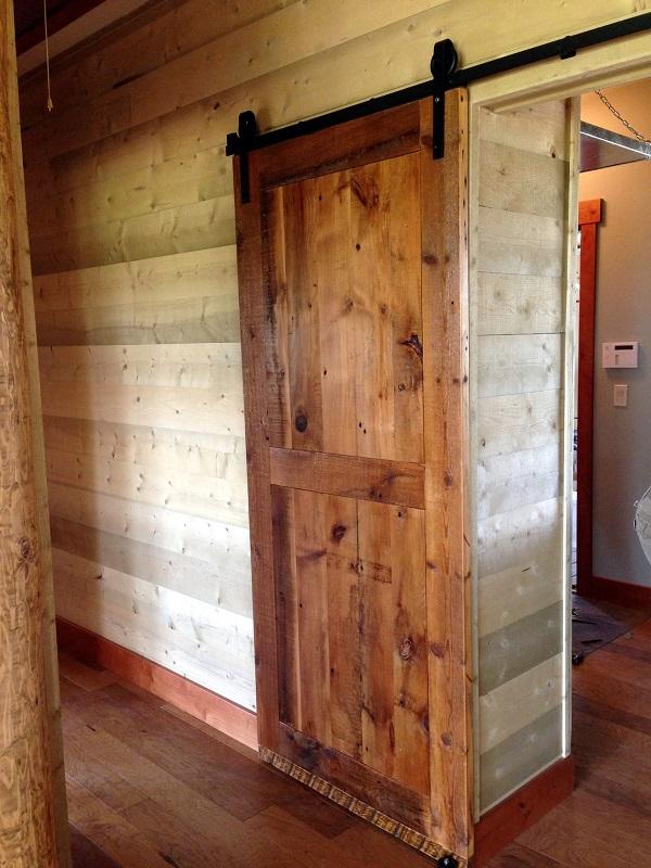 Sliding Barn Door  Barn Wood Furniture  Rustic Barnwood