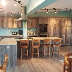 Rustic Kitchen Cabinet Kitchens Of India Custom Cabinets Barn Wood Furniture Weathered Gray Barnwood 2001 Jpg