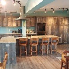 Rustic Kitchen Cabinet Floating Island Custom Cabinets Barn Wood Furniture Weathered Gray Barnwood 2001 Jpg