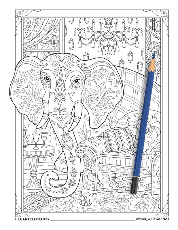 Elegant Elephants Marjorie Sarnat Design Amp Illustration