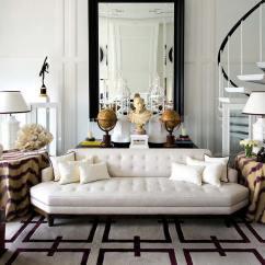 Navy Sofa Cover Platform Sectional Interiors: A Classic-modern Home In Malaga, Spain — Sukio ...