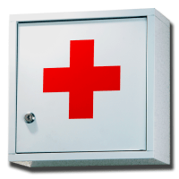 Solid White with Red Cross Medicine Cabinet (2 Shelves ...