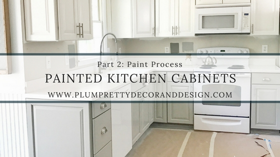 can i paint my kitchen cabinets cabinet ratings plum pretty decor design co painted budget makeover part 2 process