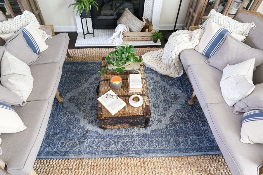 rugs for living room in home goods peach plum pretty decor design co spring update with homegoods modern farmhouse style makeover a vintage rug by