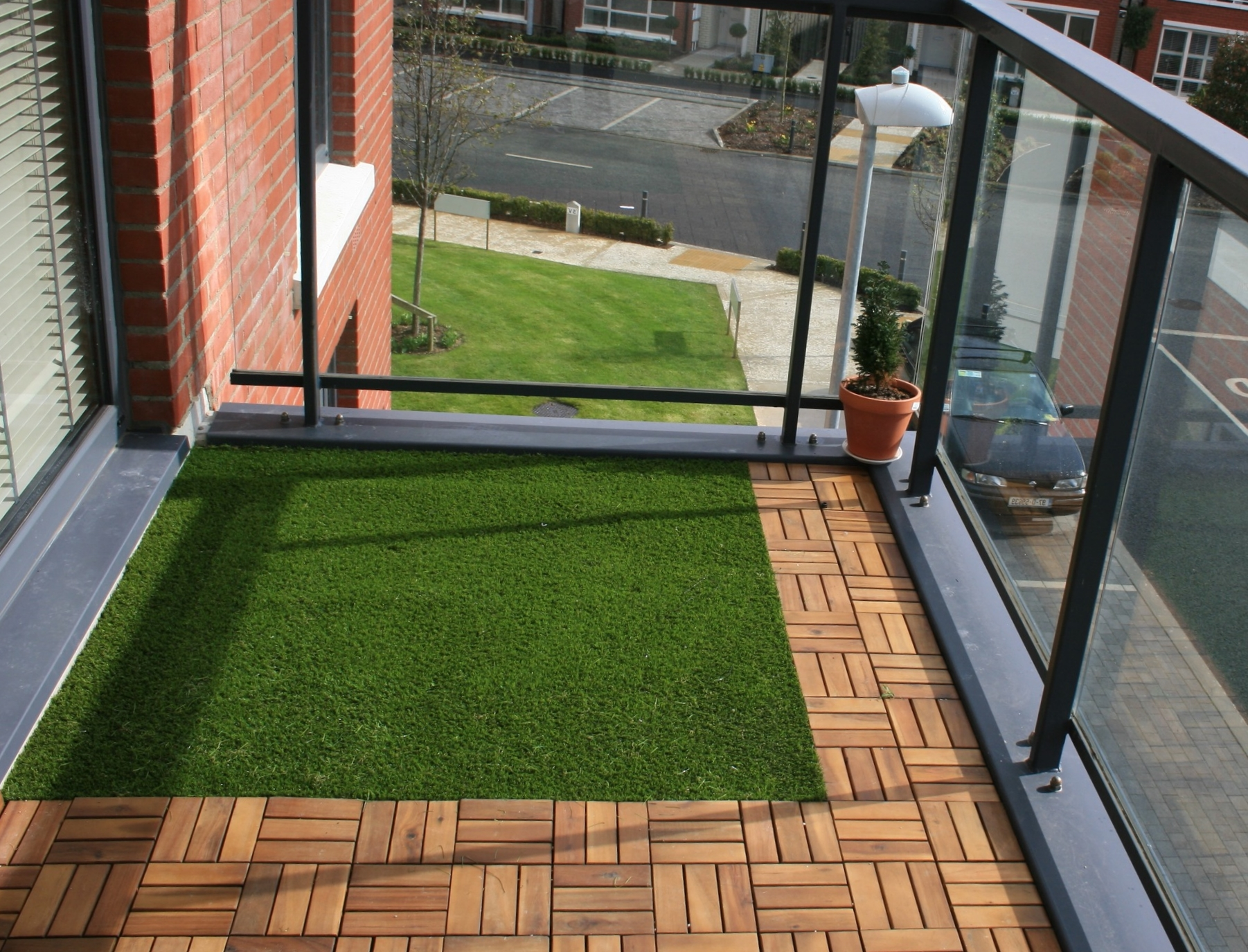 Artificial grass balcony  Amazon Landscaping