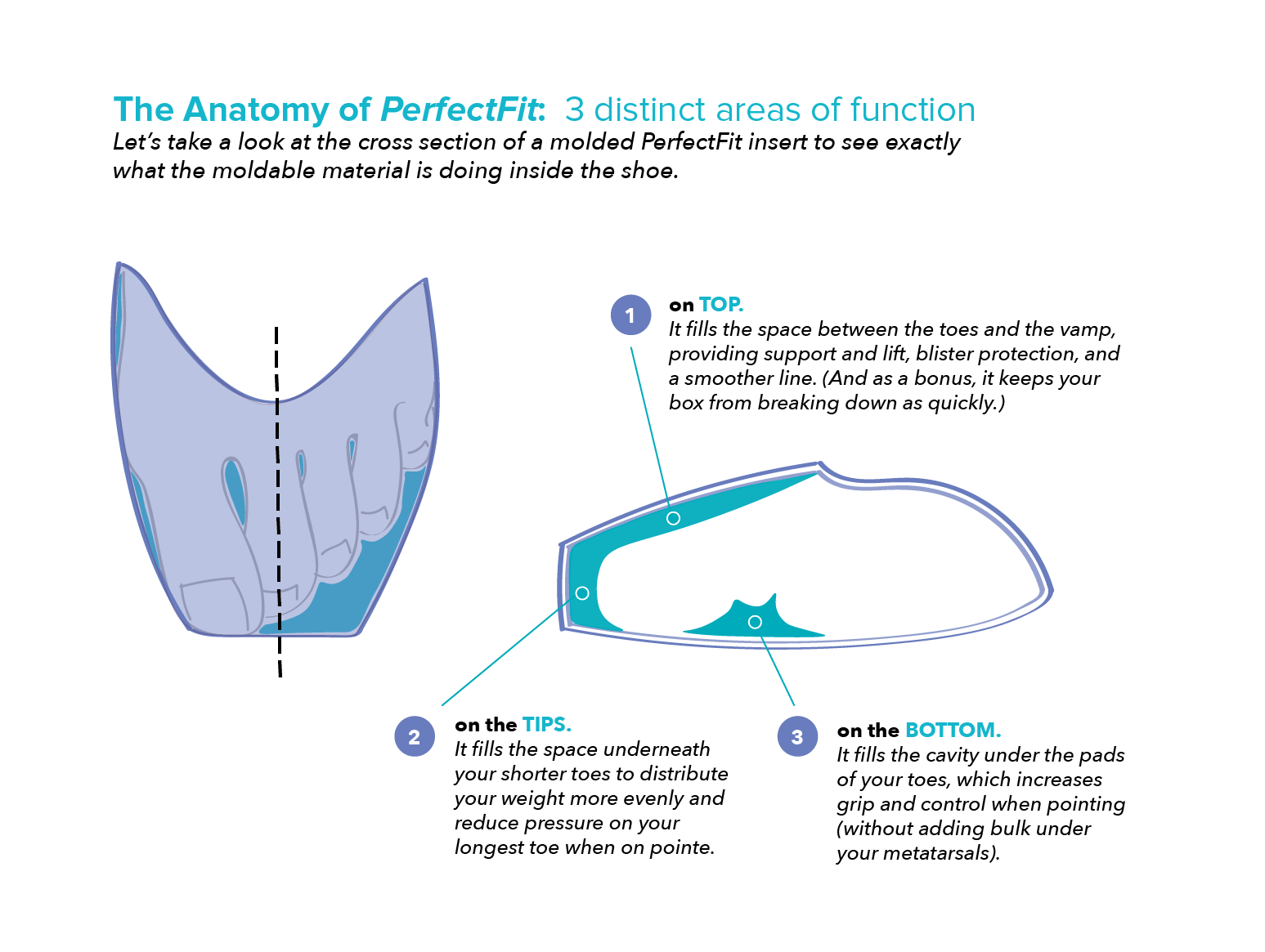 hight resolution of perfectfit pointe shoe inserts kit